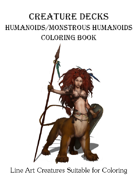 Humanoids / Monstrous Humanoids Coloring Book