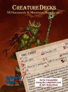 Creature Decks: 0e/1e RPG Humanoids & Monstrous Humanoids