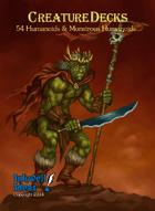 Creature Decks: Blank-backed Humanoids & Monstrous Humanoids