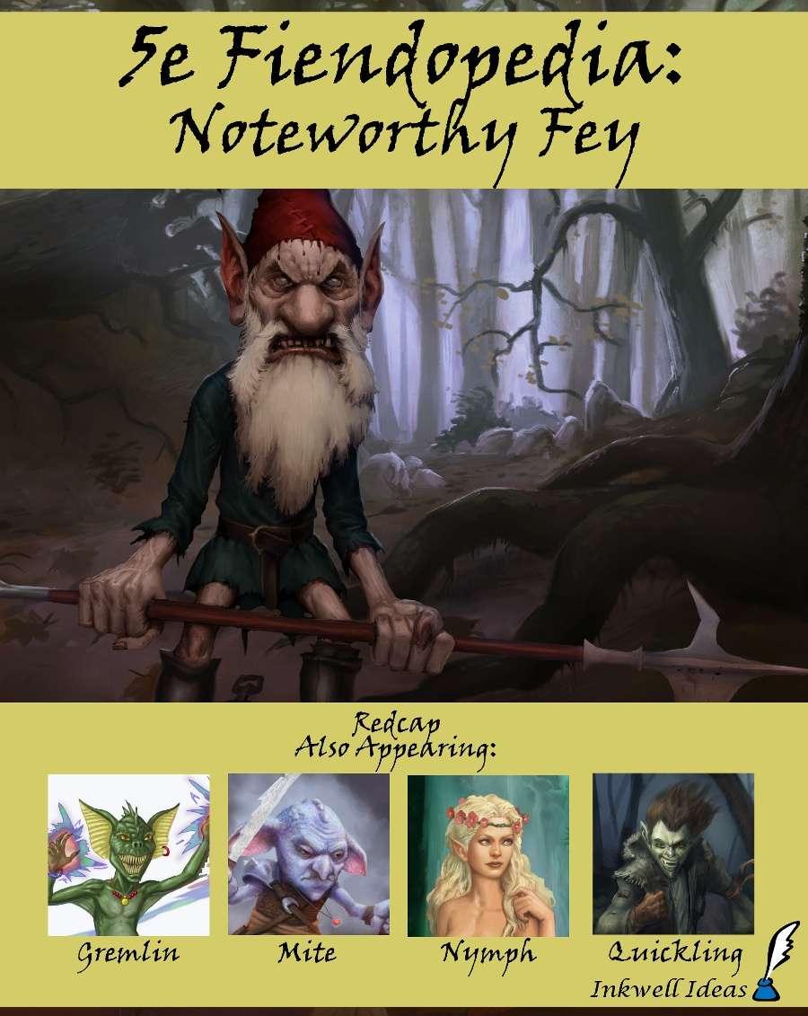 5e Fiendopedia: Noteworthy Fey - Inkwell Ideas | 5e Fiendopedia