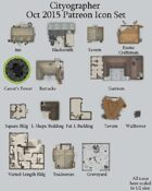 Cityographer October 2015 Monthly City Map Icons (Any Editor)