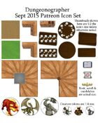 Dungeonographer September 2015 Monthly World Map Icons (Any Editor)