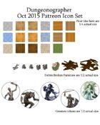 Dungeonographer October 2015 Monthly World Map Icons (Any Editor)