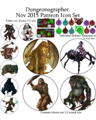 Dungeonographer November 2015 Monthly World Map Icons (Any Editor)