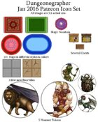 Dungeonographer January 2016 Monthly World Map Icons (Any Editor)