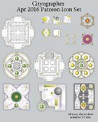 Cityographer April 2016 Monthly City Map Icons (Any Editor)