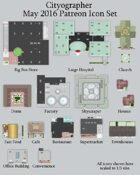 Cityographer May 2016 Monthly City Map Icons (Any Editor)