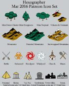 Hexographer March 2016 Monthly World Map Icons (Any Editor)