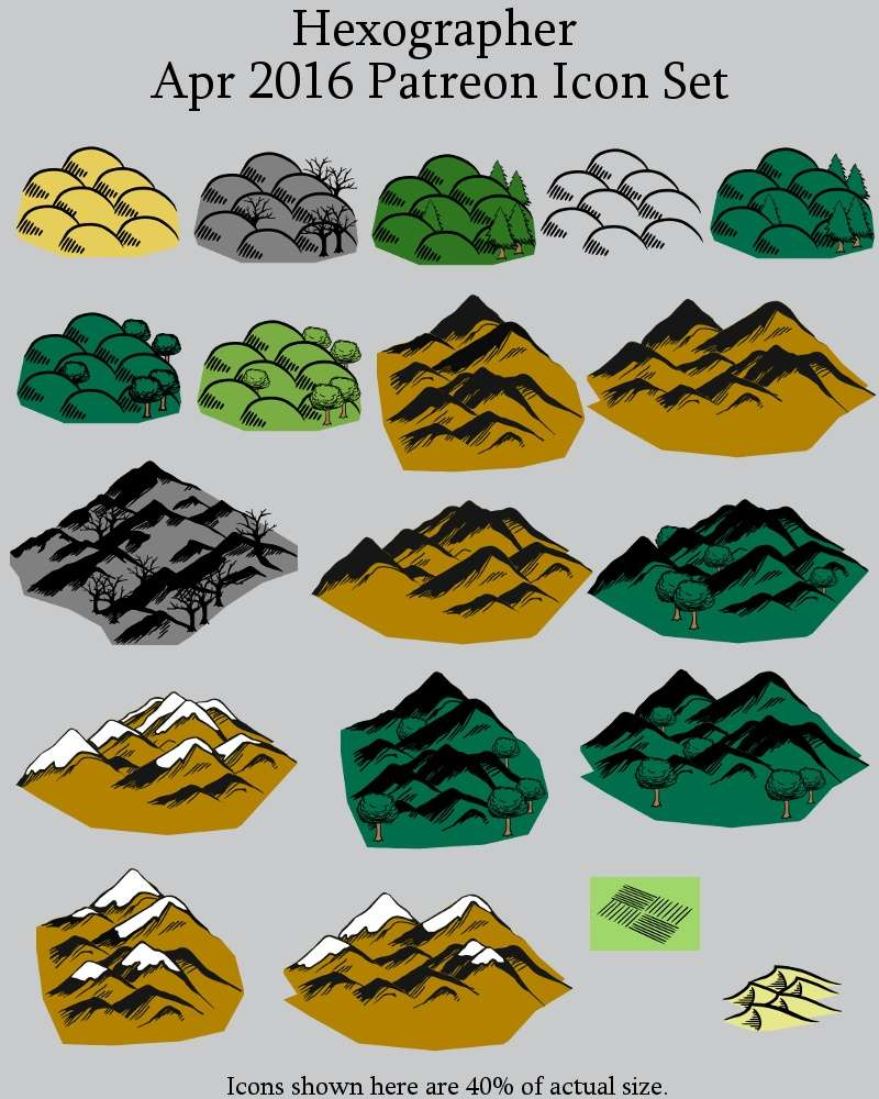 Hexographer April 2016 Monthly World Map Icons Any Editor
