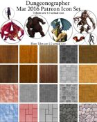 Dungeonographer March 2016 Monthly World Map Icons (Any Editor)
