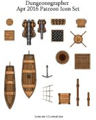 Dungeonographer April 2016 Monthly World Map Icons (Any Editor)