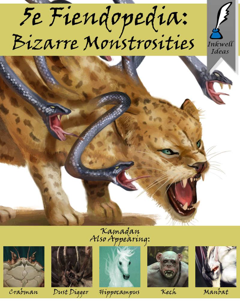 5e Fiendopedia: Bizarre Monstrosities - Inkwell Ideas | 5e