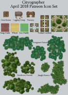 Cityographer Vegetation City Map Icons (Any Editor)
