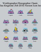 Hex/Worldographer Classic Style Sea Kingdom World Map Icons