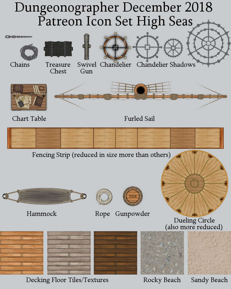 Dungeonographer High Seas Map Icons (Any Editor)