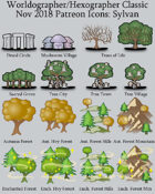 Hex/Worldographer Classic Style Sylvan World Map Icons