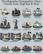 Hex/Worldographer Classic Style High Seas World Map Icons