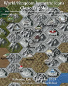 Worldographer Isometric Style Temples World Map Icons