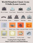 Hex/Worldographer Classic Style 9 Hells Lower Levels World Map Icons