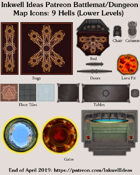Dungeon/Battlemat 9 Hells Lower Levels Map Icons (Any Editor)