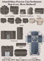 City/Village Medieval Map Icons (Any Editor)