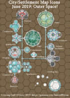 City/Village Outer Space Map Icons (Any Editor)