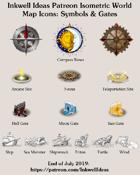 Worldographer Isometric Style Symbols & Gates Map Icons