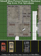 Dungeon/Battlemat Post-Apocalyptic Map Icons (Any Editor)