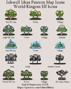 Hex/Worldographer Classic Style Elven World Map Icons