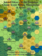 Hex/Worldographer Classic Style Keeps & Monasteries World Map Icons