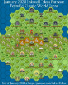 Worldographer Feywild World/Kingdom, Village, & Battlemat Map Icons