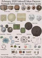 Worldographer Nomads World/Kingdom, Settlement, and Battlemat Map Icons