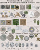 Worldographer Monuments World/Kingdom, Settlement, and Battlemat Map Icons