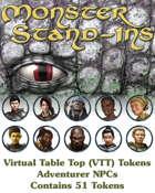 Monster Stand-Ins VTT Tokens: Adventurer NPCs