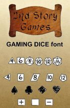 Gaming Dice True Type Font