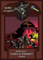Roads of Apocalypse (4th ed.) - Demo-set 1: Church of Apocalypse scums