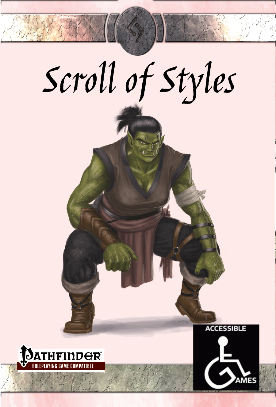 Scroll of Styles - Accessible Games   DriveThruRPG com