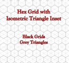 Hex Grid with Isometric Triangle Inset