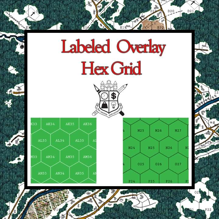 Labeled Overlay Hex Grid - Frugal GM | Maps & Map