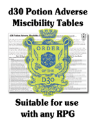 d30 Potion Adverse Miscibility Table