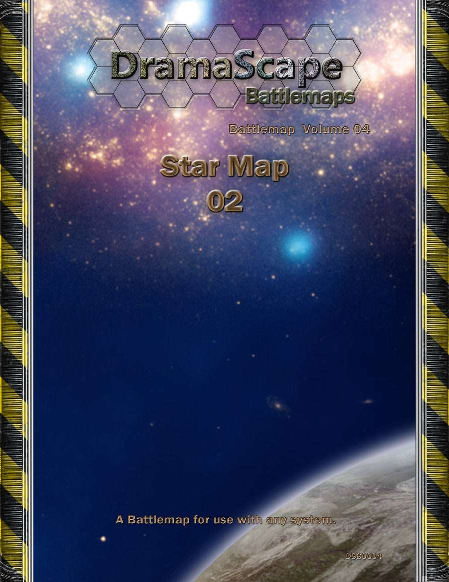 Star Map 02 - DramaScape | SciFi | Pre Printed | Wargame Vault