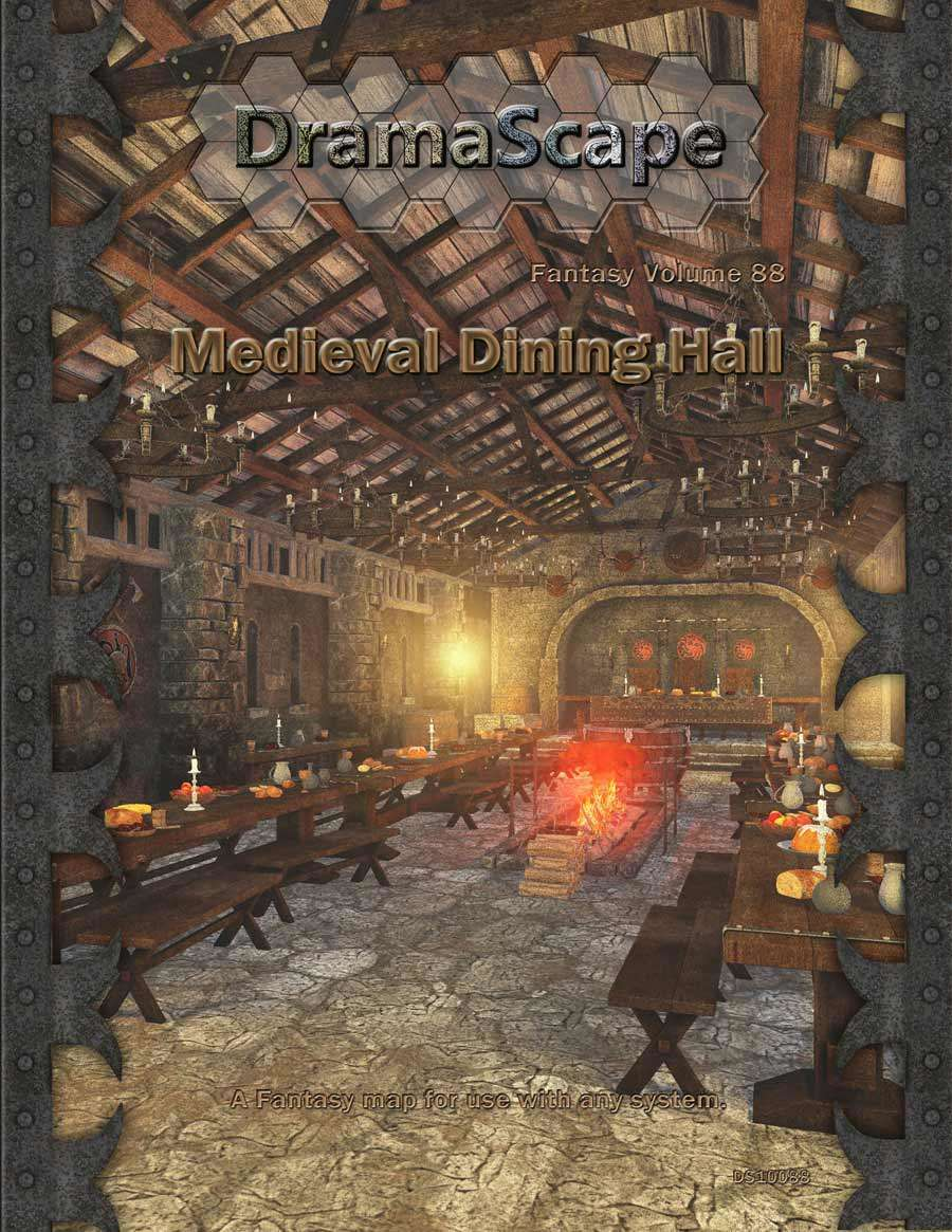Medieval Dining Hall Dramascape Fantasy Drivethrurpg Com
