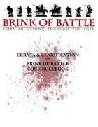Brink of Battle Official Errata