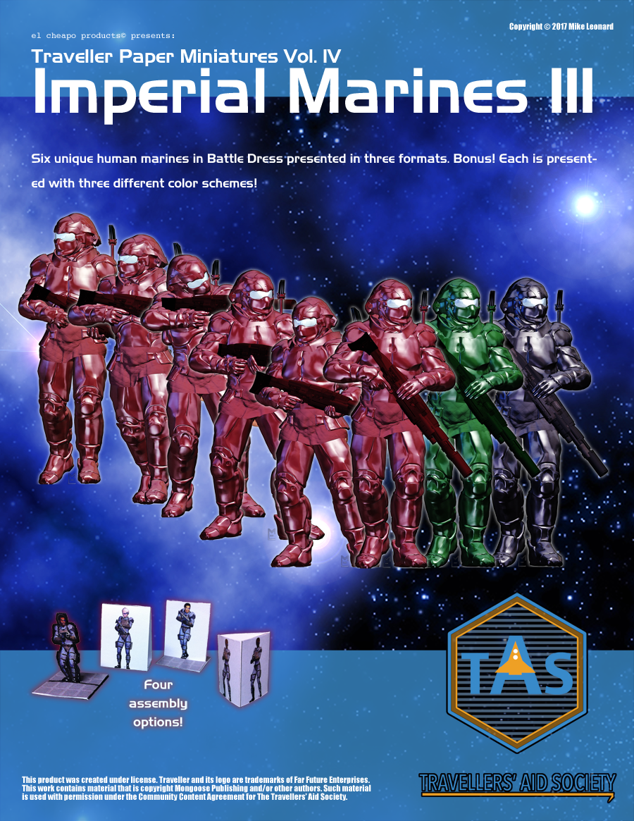 Traveller Paper Miniatures Vol. 4 Imperial Marines III