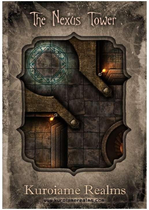 Battlemap The Nexus Tower Kuroiame Realms Dungeon Masters Guild