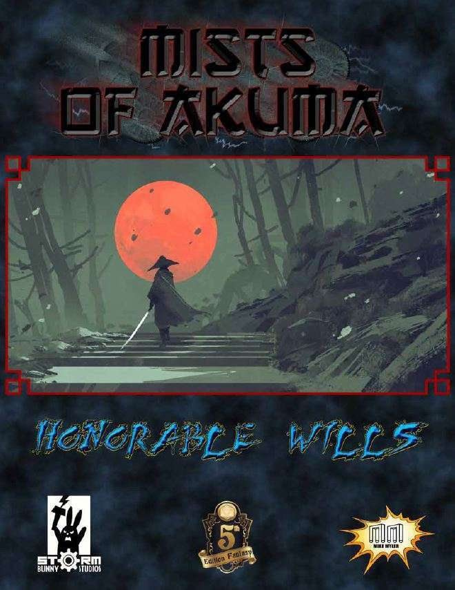 Cover of Mists of Akuma: Honorable Wills