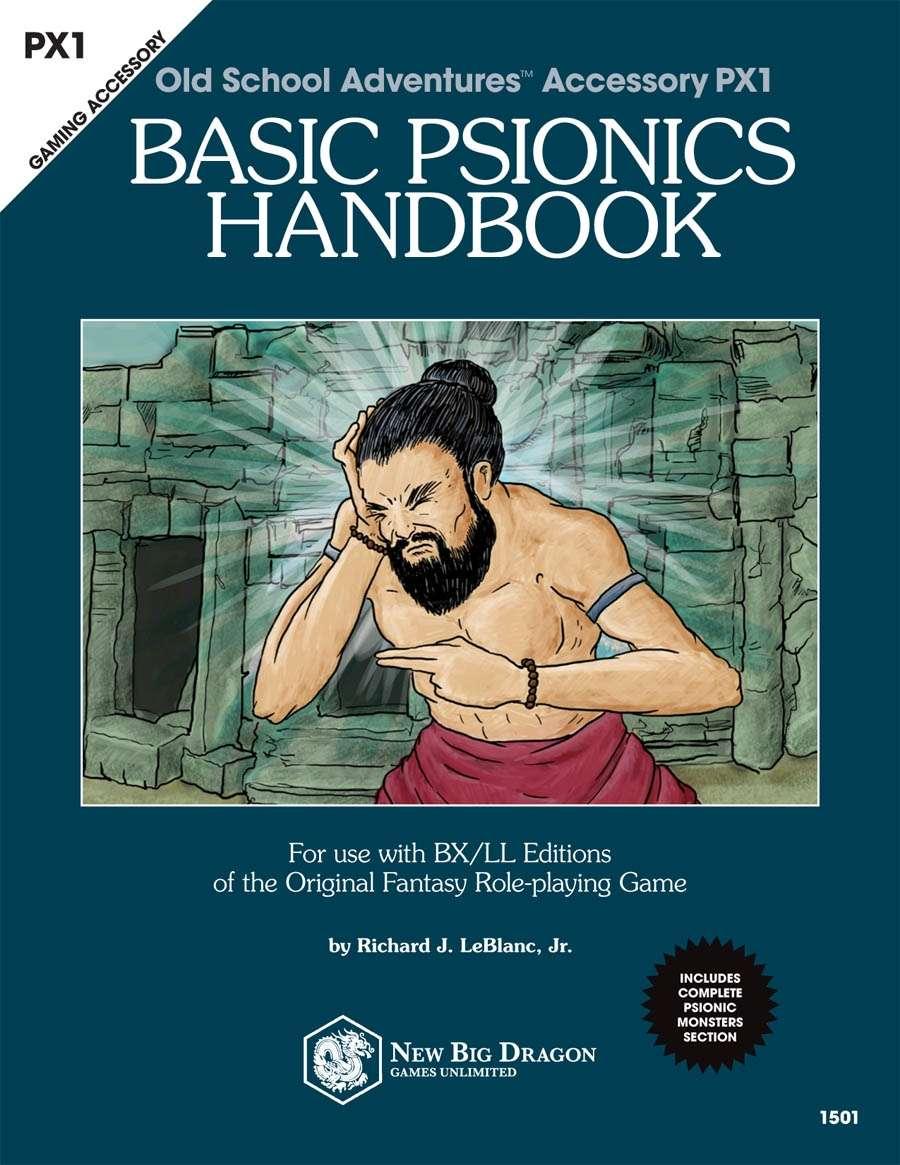 PX1 Basic Psionics Handbook - New Big Dragon Games Unlimited
