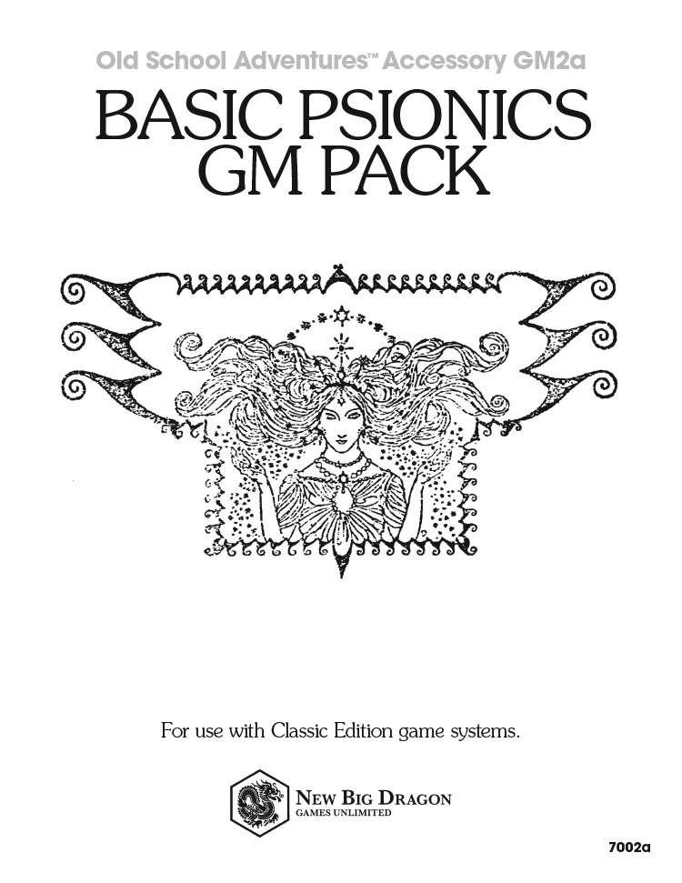 GM2a Basic Psionics GM Pack - New Big Dragon Games Unlimited