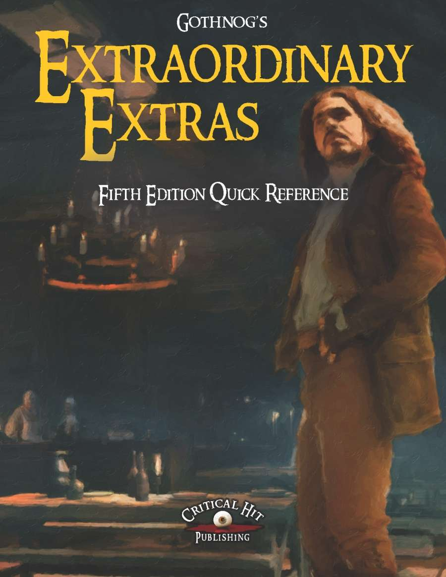 Extraordinary Extras - Fifth Edition Quick Reference Sheet