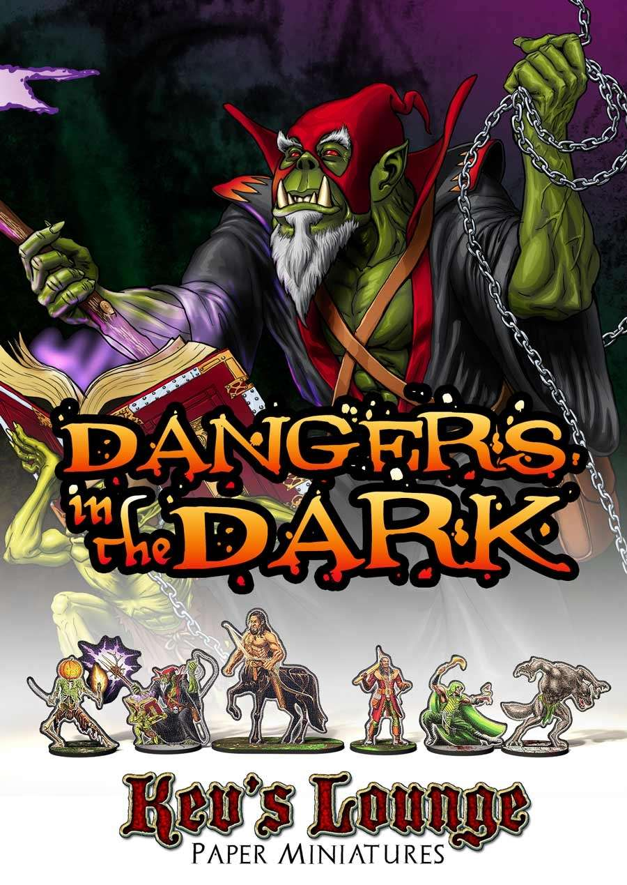 Kev's Lounge Paper Minis: Dangers in the Dark
